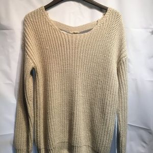 Loose-Fitted Beige Sweater